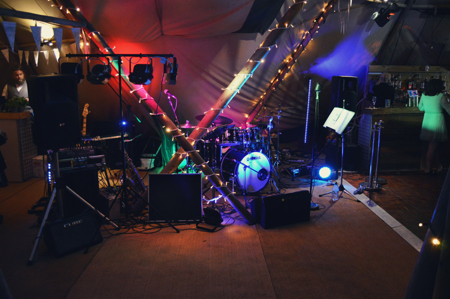 Wedding Band and photo pod Giggleswick School, North Yorkshire