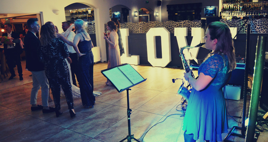 Wedding Band Saxophone DJ Millhouse Restaurant, Skidby